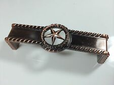 Bon Star With Barbwire Pull Antique Copper Western Cabinet Hardware Drawer Pulls