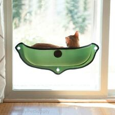 KH Mfg EZ Mount Window Cat Perch Bed Kitty Sill Green