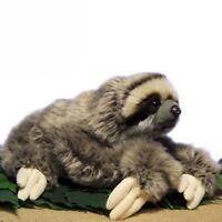30cm réaliste trois paresseux en peluche jouet doux en peluche poupée