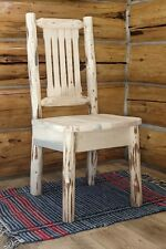 Log Kitchen Chair, Amish Made Chairs, Rustic Dining Furniture, Lodge Cabin Style