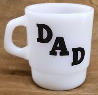 Oven Proof Galaxy Greatest DAD Coffee Cup Mug Milk Glass D Handle Father's Gift