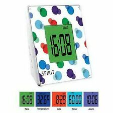 Espíritu Sensor Táctil Pantalla de 5 Colores Despertador