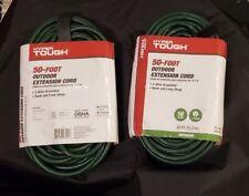 Hyper Tough 50 Foot 16/3 SJTW Green Outdoor/indoor Extension Cord (Pack of 2)