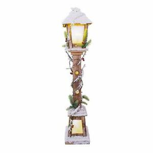 The Christmas Workshop Snow Lampost Warm White LED, 60cm Lamp Post -