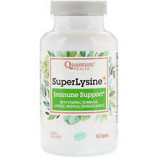 Quantum Health Super Lysine  Immune System 180 Tablets Milk-Free, No Artificial