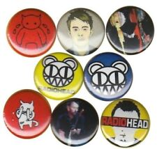 Radiohead Set of 8 Buttons-Pins-Badges |Kid A| OK Computer | In Rainbows | Bends