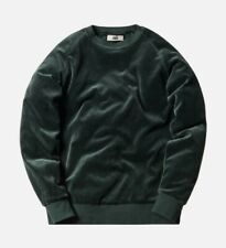 Kith x Bergdorf Goodman Velour Williams Crewneck Sweatshirt. Green. Size L.