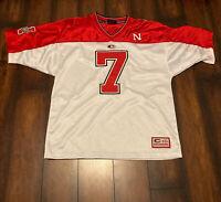 Nebraska Cornhuskers Colosseum #7 NCAA Sz M Football Jersey Sewn Stitched NCAA