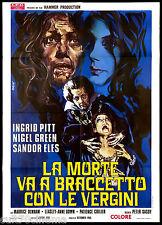 LA MORTE VA A BRACCETTO CON LE VERGINI MANIFESTO CINEMA HORROR 1971 POSTER 2F