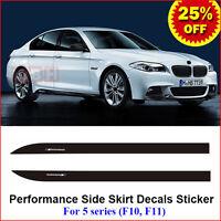 2pcs M Performance Side Skirt Decals Vinyl Sticker for BMW 5 Series F10 F11