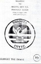 Aug 86 SWANSEA CITY v BRISTOL CITY
