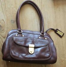Jasper Conran Dark Tan Real Leather Handbag