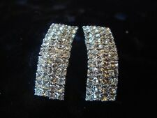 Rhinestone Curved  Earrings Dance Competition Jewelry (A-96)