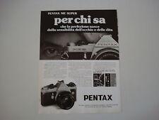 advertising Pubblicità 1981 PENTAX ME SUPER