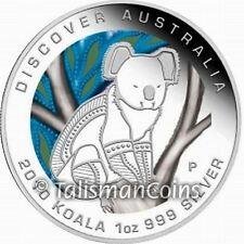 Australia 2010 Discover Australia Dreaming Koala Bear $1 Pure Silver Color Proof