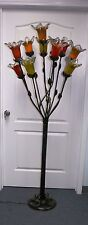 HAND MADE WROUGHT IRON FLOOR LAMP ASSORTED GLASS SHADES MADE  #1