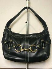 COACH SIGNATURE Ergo Hampton Hobo Black Leather Bag Carry-all Purse 11261 VGUC