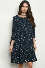 NEW WITH TAGS IN PACKAGE~WOMENS SIZE SMALL NAVY FLORAL DRESS