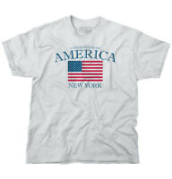 New York State Patriotic Gift Ideas American USA T Shirt Flag T Shirt Tee