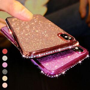 For iPhone 11 12 Pro Max XS XR SE 6 7 8 Plus Glitter Diamond Silicone Case Cover
