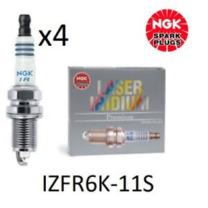 NGK LASER IRIDIUM SPARK PLUGS FOR HONDA CIVIC FR-V CR-V 2005 - 2017 - IZFR6K-11S