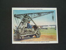 Churchman - RAF At Work (1938) - Card # 38. Driver In Charge of Mobile Crane