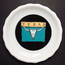 Vintage Texas Bull Horn Decorative Collectible Souvenir Plate 3 1/2""