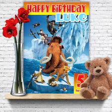 EXTRA Large ERA GLACIALE Film ** personalizzato A4 cartolina di Compleanno ** Spedizione Rapida