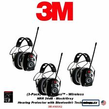 3M Peltor WorkTunes 3-Pack Wireless Hearing Protector w Bluetooth #90542_3