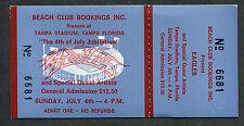 1976 Eagles Fleetwood Mac Loggins Messina Non Usato Full Concerto Ticket Tampa