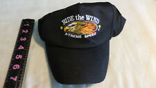 Ride The Wind X-treme Speed  Motorcycle Cap Hat Black Snapback Eagle