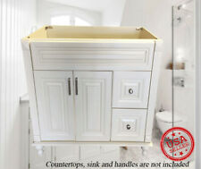 "New Antique White Single Bathroom Vanity Base Cabinet 36"" W x 21"" D Wood Right"