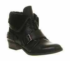 100% Leather Lace Up Shoes for Women OFFICE