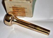 Rare Al Cass Milford Mass 3X 5 gold plated Trumpet Mouthpiece