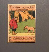 Livraison incomplète par Benjamin Rabier. Publicité Pharmacie Bouchard.