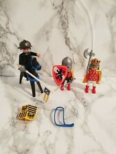 PLAYMOBIL FIGURES: Knights/Romans 3 Figures + Horse & Some Accessories