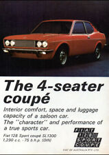"""1973 FIAT 128 AD A2 CANVAS PRINT POSTER FRAMED 23.4""""x16.5"""""""