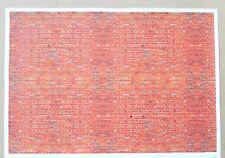 "G gauge (1:24 scale) ""Red-orange brick (English bond)"" self adhesive vinyl"