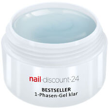 UV-Gel 1-Phasen-Gel klar 5ml 3-in-1 Allround Versiegler Aufbau Grundierung Haft