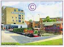 "WALSALL ART GALLERY TOWN WHARF WATERCOLOUR ARTISTS PRINT GREETINGS CARD 8""x 6"""