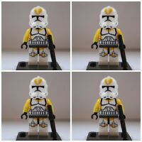 Star Wars Yellow Utapau Storm Clone Troopers Mini Figures use with lego 1 Jedi