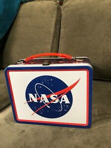 Classic - NASA - Large Tin Tote / Metal Lunch Box - Space Shuttle Exploration