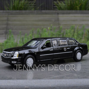 1:32 Diecast Car Model Toy Cadillac DTS Presidential Limousine Pull Back Replica