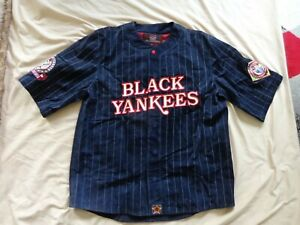 Negro League NEW YORK BLACK YANKEES  LEATHER  PIG SUEDE SAMPLE JERSEY JH Design
