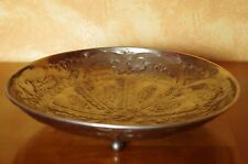 Assiette Plat artisanal en cuivre blanc oriental diamètre 28,5 cm