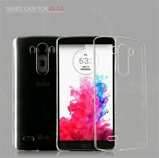 New Glossy Crystal Clear Transparent Hard Plastic Back Case Cover Skin For LG G3