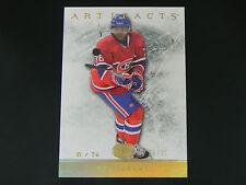 2012-13 Artifacts GOLD Spectrum #69 P.K. Subban Montreal Canadiens / 25