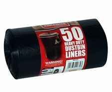 Kingfisher 50 Heavy Duty Dustbin Liners Bin Bag Refuse 120L Size Sacks