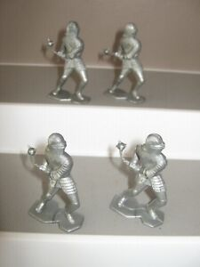 Marx Knights originals set of 6 in 3 poses from castle set 1968 no 4635 ex/cond