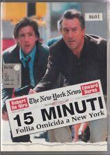 15 MINUTI - FOLLIA OMICIDA A NEW YORK (2001) DVD - EX NOLEGGIO